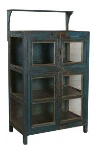Blue Teak 4 Door Cabinet Primitive Furniture, Antique Furniture, Cabinet Dimensions, Indian Furniture, Cabinet Furniture, China Cabinet, Teak, Doors, Antiques