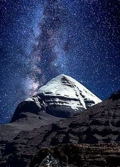 The pyramid shaped Mount Kailash or Mount Kailasa, is a holy mount situated in the far region of Tibet in China. Mount Kailash is also known as Meru Parvat (India) and Gang Rinpoche (Tibet) and Gangdisi Shan (Chinese). Mystic Mountain, The Holy Mountain, The Immortals Of Meluha, Kailash Mansarovar, Wine Wallpaper, Lord Shiva Hd Wallpaper, Lord Shiva Painting, Mountain Wallpaper, Mountain Photos