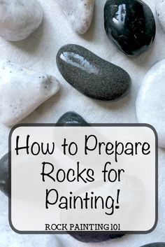 Learn how to prepare rocks and stones for painting. Yes, there is a step from buying rocks to paint and actually painting them. Check out these 4 easy tips. paintings christmas How to easily prepare rocks for painting amazing stones Rock Painting Patterns, Rock Painting Ideas Easy, Rock Painting Designs, Paint Designs, Rock Painting Supplies, Rock Painting Ideas For Kids, Pebble Painting, Pebble Art, Stone Painting