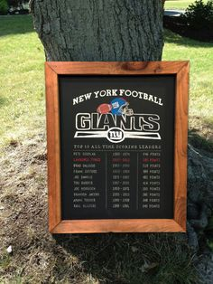 Personalized Framed Man Cave Sports Chalkboard by TimberAndType