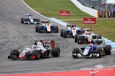 Romain Grosjean | Haas F1 Team VF-16 | Felipe Nasr, Sauber C35 | German GP