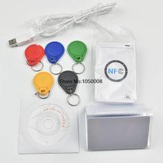 ACR122u NFC Reader Writer 13,56 Mhz RFID Copier Duplicator + 5 stücke UID karte + 5 stücke UID Tag + SDK + M-ifare Kopieren Klon Software
