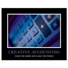 Creative Accounting I Humor Print