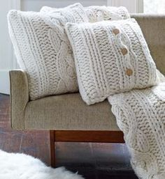 Oversized Knit Pillow - 24 Inch