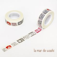 Washi Tape cámaras con rojo