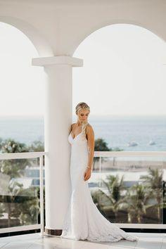 Stunning bride standing on a balcony overlooking the ocean in Costa Rica. Toronto Wedding Photographer, Destination Wedding Photographer, Amazing Destinations, Costa Rica, Balcony, Photographers, Wedding Photos, Ocean, Weddings