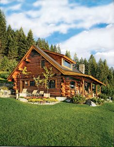 Log homes, log cabins, chalets and log home builders. DIY log cabin kits & wholesale log homes. Log Cabin Plans, Log Home Floor Plans, Cabin Kits, Log Cabin Homes, Log Cabins, House Plans, Small Log Cabin, Cozy Homes, Cabin In The Woods