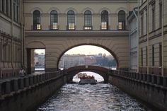 The building links the buildings in the Winter Palace. The canal leads from The Moika River to the mighty Neva River in St. Petersburg.  #monogramsvacation