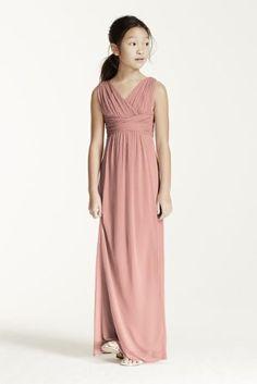 Long Sleeveless Mesh Dress with Ruched Waist JB5728
