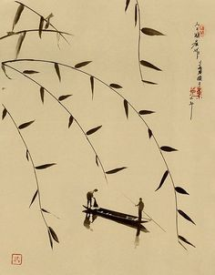 Photo that looks like Chinese Ink Drawing by Don Hong-Oai Japanese Painting, Chinese Painting, Chinese Artwork, Chinese Picture, Chinese Prints, Art Chinois, Art Asiatique, Art Japonais, Foto Art