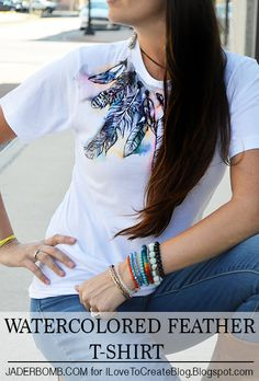 Watercolor Feather T-Shirt