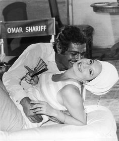 Omar and Barbra on the set of Funny Girl - quite possibly my favorite musical of all time