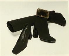 Prada FW 1995 Lookbook Heeled Mules, Prada, Ankle, Heels, Boots, Instagram, Fashion, Crotch Boots, Moda