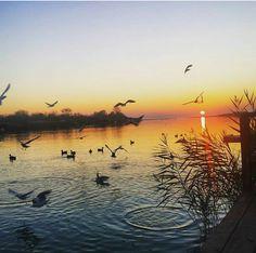 Lovely sunset, Ada Bojana, Montenegro