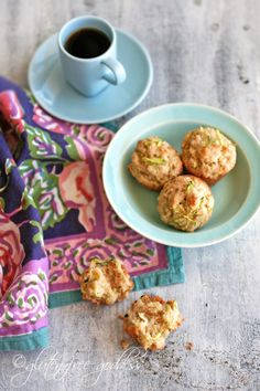 Tender and delicious gluten free zucchini muffins. Replace rice flour w/ bob's red mill gf flour.
