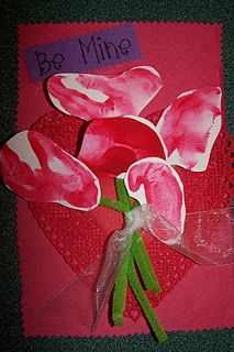 """""""Be Mine"""" roses made from fists -printed thumb side down perfect for Valentine's Day!"""