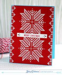 Knit Christmas Card by Betsy Veldman for Papertrey Ink (November 2014)