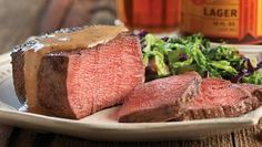 Filet Mignons with Lucky Bucket Lager Sauce