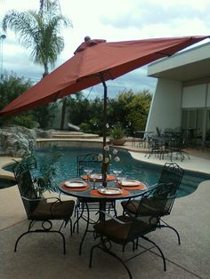 Patio Furniture Set Provided By Patio Pools And Spas In Tucson, AZ.