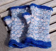 Blue Cranford's - fingerless mitts