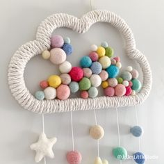 Beautifully handmade modern home decor and gifts by JoJosLittleStudio Diy Crafts For Home Decor, Diy Crafts Hacks, Baby Crafts, Crafts For Kids, Arts And Crafts, Pom Pom Crafts, Macrame Design, Macrame Projects, Macrame Patterns