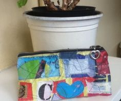 plastic fused zippered pouch