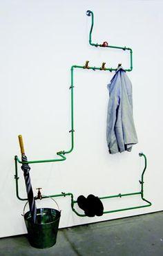 Eco design: appendiabiti da vecchie tubazioni, eco arredamento fai da te Nick Fraser