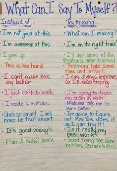 Check out this fantastic poster on teaching #positive self-talk. Thank for sharing National Association of School Psychologists!
