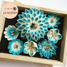 Pine Cone Decorations, Kanzashi Flowers, Hair Pins, The Creator, Succulents, Hair Accessories, Crafts, Creema, Dress