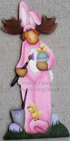 The Decorative Painting Store: Milton the Easter Moose ePacket - Wendy Fahey - PDF DOWNLOAD, Newly Added Painting Patterns / e-Patterns