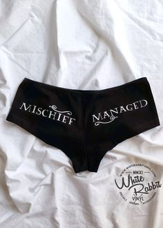 Harry Potter Mischief Managed Hip Hugger Undies glow-in-the-dark geeky panties