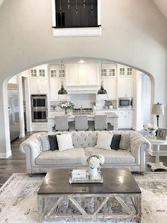 15 Luxury Home Interior Design Ideas With Low Budget — Design & Decorating - Trend Home Design 2019 Home Living Room, Living Area, Living Room Designs, Living Spaces, Living Room Interior, Apartment Living, Kitchen Interior, Cozy Living, Living Room Couches