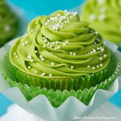 California Avocado Cupcakes w/ Key-Lime Buttercream - thecafesucrefarine.com
