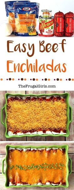 Easy Beef Enchiladas Recipe! This delicious Enchilada Casserole is the perfect dinner for those busy weeknights!