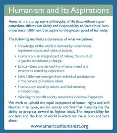 Humanism and Its Aspirations: Humanist Manifesto III, a Successor to the Humanist Manifesto of 1933 - American Humanist Association Secular Humanism, Athiest, Learning Theory, World Religions, Life Philosophy, Just In Case, Believe, Spirituality, Knowledge
