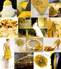 wedding in yellow