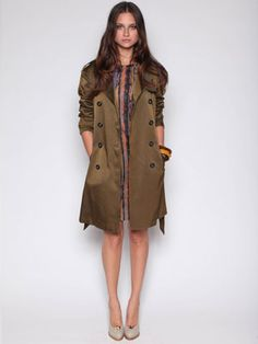 Love the sleek look of this Selected trench coat. Perfect for a stroll in Paris on a cool Spring night!