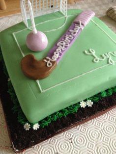 English hockey field birthday cake, fondant, sugarcraft