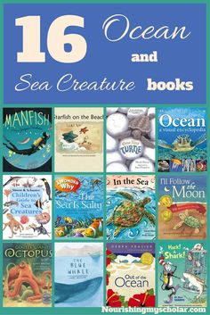 16 Ocean and Sea Creature Books: 16 books to get your child learning about the ocean and the creatures that live there! via @preciouskitty23