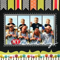 My Buddy scrapbooking layout