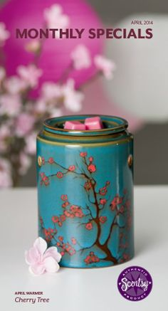 Scentsy April warmer of the month Cherry Tree! Avail 4/1 and 10% off all April! https://karlycarroll.scentsy.us