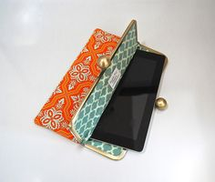 "iPad and Kindle Fire HD 8.9"" Clutch Case ""Tile Flourish"". $50.00, via Etsy."