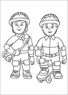 Disegni da colorare per bambini. Colorare e stampa Sam il pompiere 10