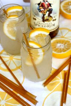 Your Southern Peach: Weekend Cheers: Honey Lemonade Cocktail 1 oz. spiced rum (I like Captain Morgan) 3 oz. lemonade 1 Honeystix, ends trimmed Lemons for garnish