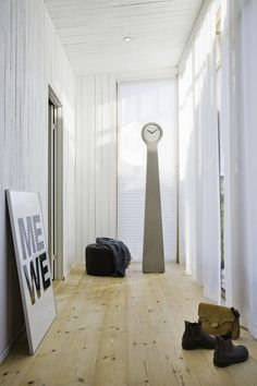TIDVIS grandfather clocks by Kvarnen Studio and Forsberg Form, made from concrete or ash + concrete