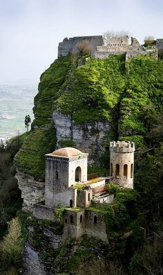Erice Castle, Sicily, Italy | Flickr - Photo by wanderlust traveler Trapani