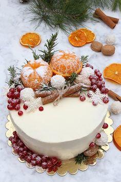 Christmas Cake Designs, Christmas Cake Decorations, Christmas Sweets, Christmas Cooking, Holiday Cakes, Beautiful Cakes, Amazing Cakes, Cake Name, Xmas Food