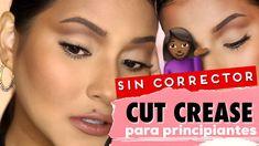 FACIL: Cut Crease Paso a Paso #KrizReales Gold Cut Crease, Cut Crease Eyeshadow, Eyeliner, Purple Line, Deep Purple, Maybelline, Cut Crease Tutorial, Prom Makeup Tutorial, Brown Mascara