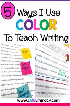 This blog posts is all about using color to help students with their writing. This writing strategy can be used in many different ways. However, I discuss color coding new vocabulary, sentences, paragraphs, sentence revisions, and color coding with post its. This strategy can be used with any grade level! #colorcoding #colorcodinginwriting #writingstrategies