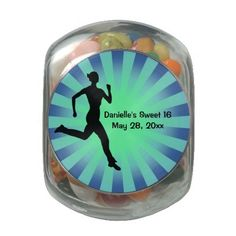 Runner Jogger Design Party Favor Jelly Belly Candy Jars
